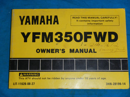 1992 92 Yamaha YFM350FW Yfm 350 Shop Service Repair Manual - $59.66