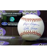 Ralph Branca and Bobby Thomson autographed Baseball (MLB HOLOGRAM) - $139.00