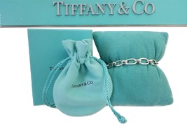 "* Tiffany & Co 925 Silver Open Oval Clasping Links 7"" Adjustable Bracelet - $299.00"
