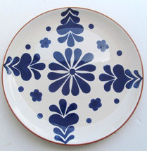 "Sodona Handpainted Ceramic ""Blue  Floral"" Large Dinner Plate By Over And... - $22.99"
