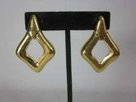 Trifari Gold Tone Door Knocker Clip Earrings Vintage - $19.79