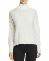 NEW H. ONE Split Off White Back Turtleneck Acrylic Wool Knit Sweater XL MSRP