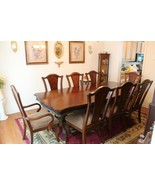 """Claw-foot Hardwood Veneer Inlaid Dining Room Suit 44"""" x 68"""" or 96"""" with ... - $999.99"""