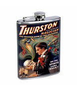 Vintage Magic Magician Poster D5 Flask 8oz Stainless Steel Hip Drinking ... - $12.82