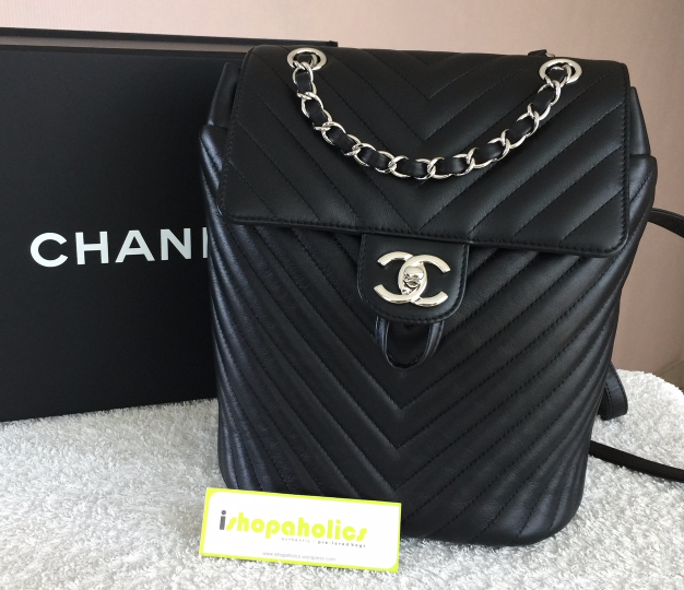 59a2ca1f2ad691 Chanel Small Urban Spirit Chevron Backpack and 43 similar items. Img  4212548813 1491111329