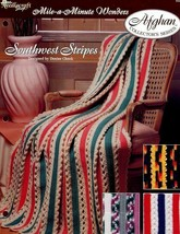 Crochet Pattern - Southwest Stripes - The Needlecraft Shop - Mile-A-Minute Wonde - $1.50