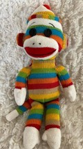 "Ty Socks The Sock Money Rainbow Knit Plush Stuffed Animal Toy 9"" - $7.38"