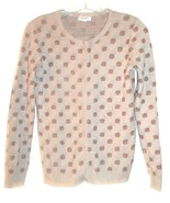 Size S - Old Navy Tan w/Metallic Bronze Square Polka Dots Long Sleeve Sw... - $29.99