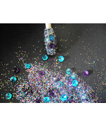 glitter mix acrylic gel nail art BEJEWELLED so pretty - $6.88