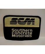 SCM SOUTHERN CONCRETE MATERIALS Patch Souvenir Crest Emblem Sew On Colle... - $5.95