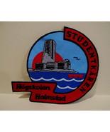 STUDENTKAREN HOGSKOLAN HALMSTAD Patch Souvenir Crest Emblem Sew On SWEDEN  - $6.95