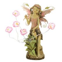 Peony Fairy Solar Statue - $55.00