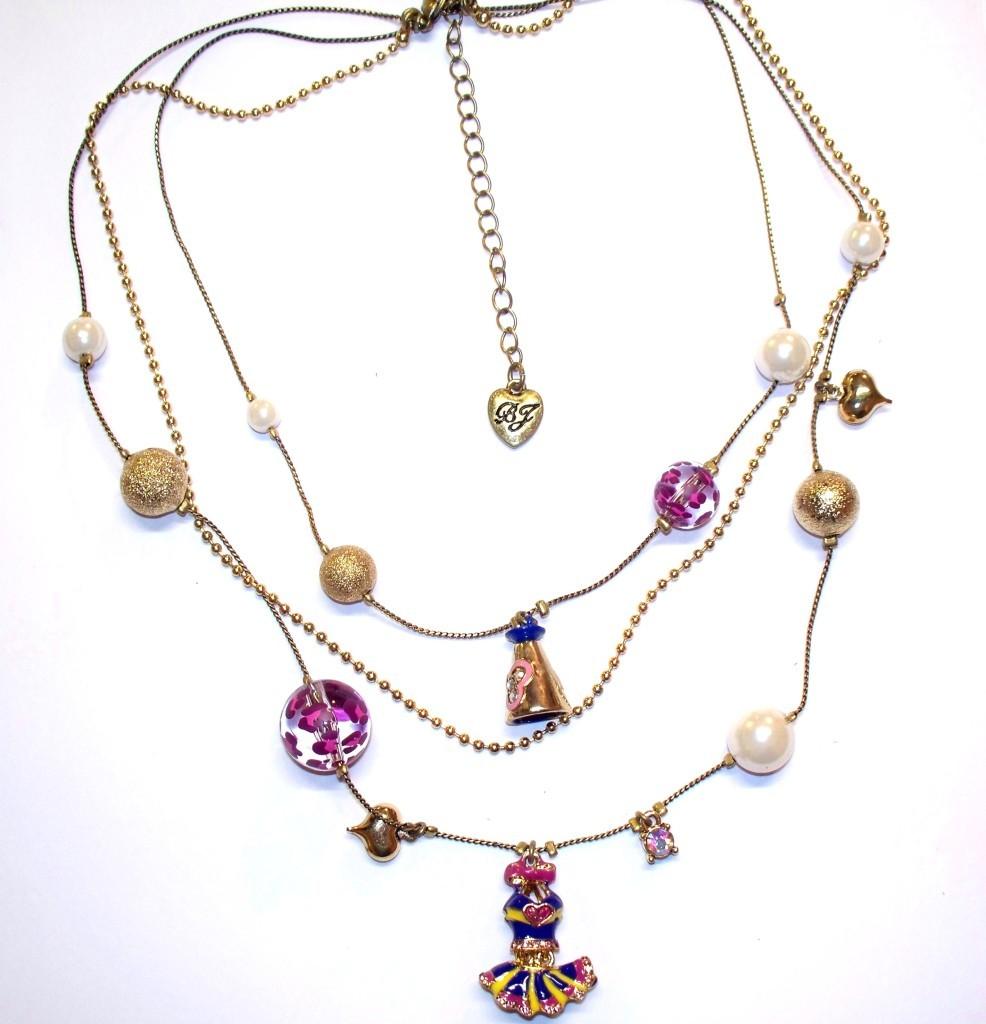 Betsey Johnson Varsity Crush Illusion Necklace NWT