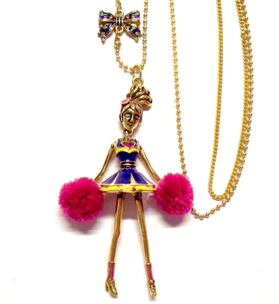 Betsey Johnson Varsity Crush Cheerleader Necklace NWT