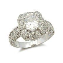 Sterling Silver Oval Cut Cubic Zirconia Engagement Ring -SIZE 8 (last one) image 1