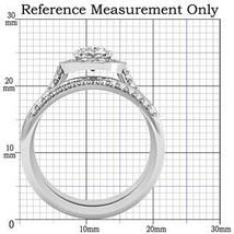 4 Prong Oval Shape CZ Engagement & Wedding Ring Set - SIZE 5 - 10 image 2