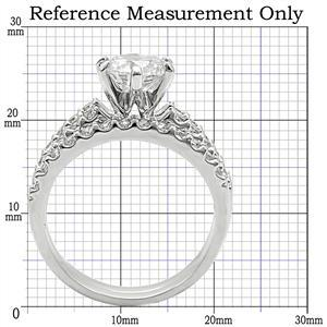 6 Prong & Pave Setting Cubic Zirconia Engagement Wedding Ring Set - SIZE 5 - 10 image 2