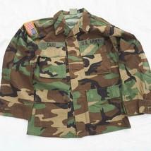 US Army NATO Woodland Camouflage Jacket Regular Light Small Extra Short - $19.79
