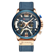 CURREN 8329 Quartz Watch Business Men Simple Sport.Wristwatch Three Sub-Dials  - $44.45