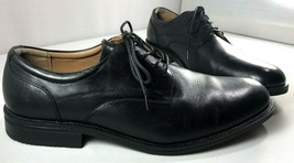 GH Bass & Co Oxfords Mens Black Leather Huxtable Shoes Size 11 W  - $69.25