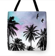 Tote bag All over print Design 27 palm tree from original Digital art by... - $26.99+