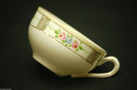 Vintage Hand Painted China Tea Cup by Nippon w Flower Pattern & Gold Trim Japan - $8.90