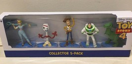 DISNEY  TOY STORY 4 COLLECTOR 5 PACK WOODY BUZZ FORKY BO PEEP REX NEW! - $11.99