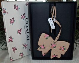 Coach Boxed Leather Printed Floral Bow Charm Ornament 27417 Beechwood image 8