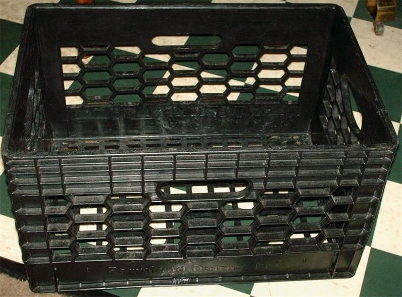 Collectible Dairy plastic Milk Crate BLACK Rectangle