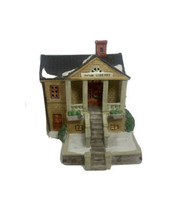 """1991 Lemax Dickensvale Porcelain Gazebo Lighted House Town Library 15033 6 1/2"""" - $29.69"""
