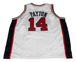 Gary Payton #14 Team USA New Men Basketball Jersey White Any Size image 5