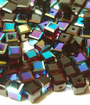 4pcs - 4mm Swarovski Crystal Cube Beads #5601 - You Choose The Color image 15