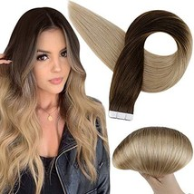 Full Shine Tape In Hair Extensions 18 Inch Brazilian Real Human Hair Color 4 Med