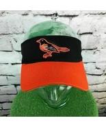 Baltimore Orioles Mens One Sz Hat Orange Team MLB Adjustable Sun Visor Flaw - $14.84