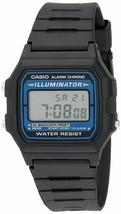 Casio F-105W-1A Mens Black Resin Band Alarm Blue Light Digital Watch w/BOX - $25.02