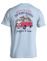 Puppie Love Rescue Dog Adult Unisex Short Sleeve Graphic T-Shirt, Tour Bus Pup image 1