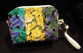 Clutch Bag/Wristlet/Makeup Bag Bright Floral Fabrics image 2