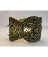 Style&co Nwt Filigrane Ancien or Texturé Large Extensible Bracelet Rigid... - $15.04