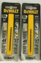 """(New) Dewalt DWA1206 Split Point Industrial Cobalt Drill Bit  3/32"""" Lot of 2 - $18.80"""
