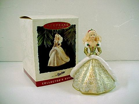 1994 Hallmark Keepsake Holiday Barbie Ornament  -No.  QX521-6 Bonanza