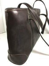 Piel Dark Brown Leather Tote Bag Hand Made In Colombia image 3