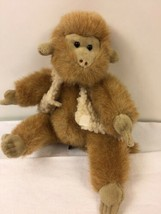 "Ty Morgan Monkey In Vest Plush 9"" Jointed Attic Treasure Tan Stuffed Ani... - $9.89"