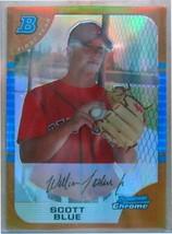 2005 Bowman Chrome Schizzi Oro Rfrc #76 Scott Blu / 50 Fy - $19.48