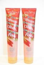 2 Bath & Body Works Holiday Winter Candy Apple Shea & sparkle Scrub 6.1 oz - £13.80 GBP