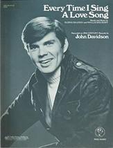 Sheet Music 1975 Every Time I Sing A Love Song John Davidson 164 - $23.32