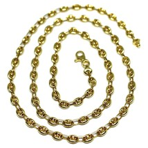 """18K YELLOW GOLD OVAL NAUTICAL MARINER CHAIN 5 MM, 20"""", ANCHOR ROUNDED NECKLACE image 1"""