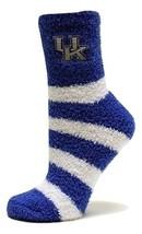 University of Kentucky Licensed Stripe Fuzzy Socks - $12.95