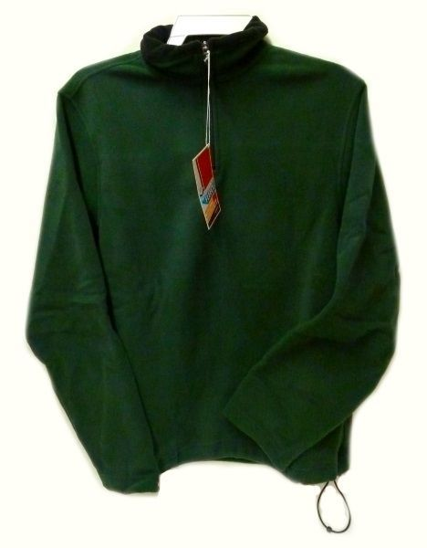 Fleece Jacket Old Navy Uniform Unisex Hunter Green 1/4 Zip Performance L New