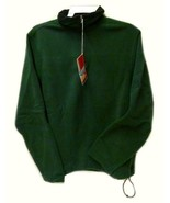 Fleece Jacket Old Navy Uniform Unisex Hunter Green 1/4 Zip Performance L... - $29.37