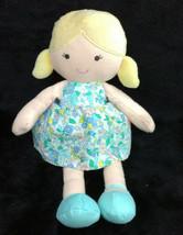 Carter's 2015 Blonde Girl Doll Blue Flower Dress Stuffed Animal Plush Toy 66842 - $48.37